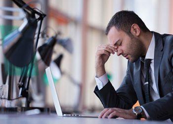 discouraged executive